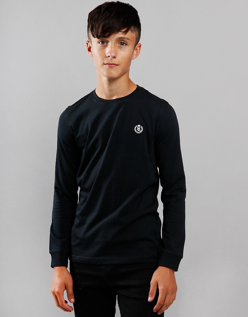 Henri Lloyd Junior Long Sleeve Radar T-Shirt Black