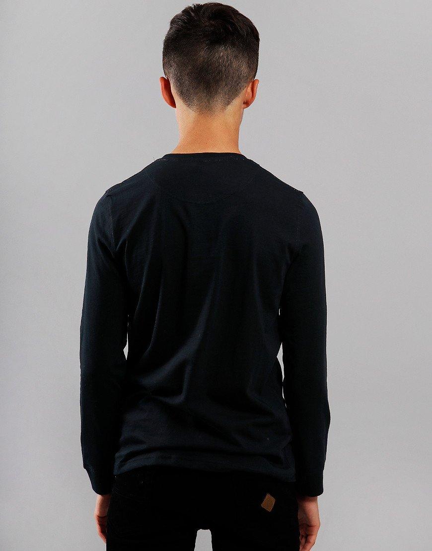 Henri Lloyd Junior Long Sleeve Radar T-Shirt Black