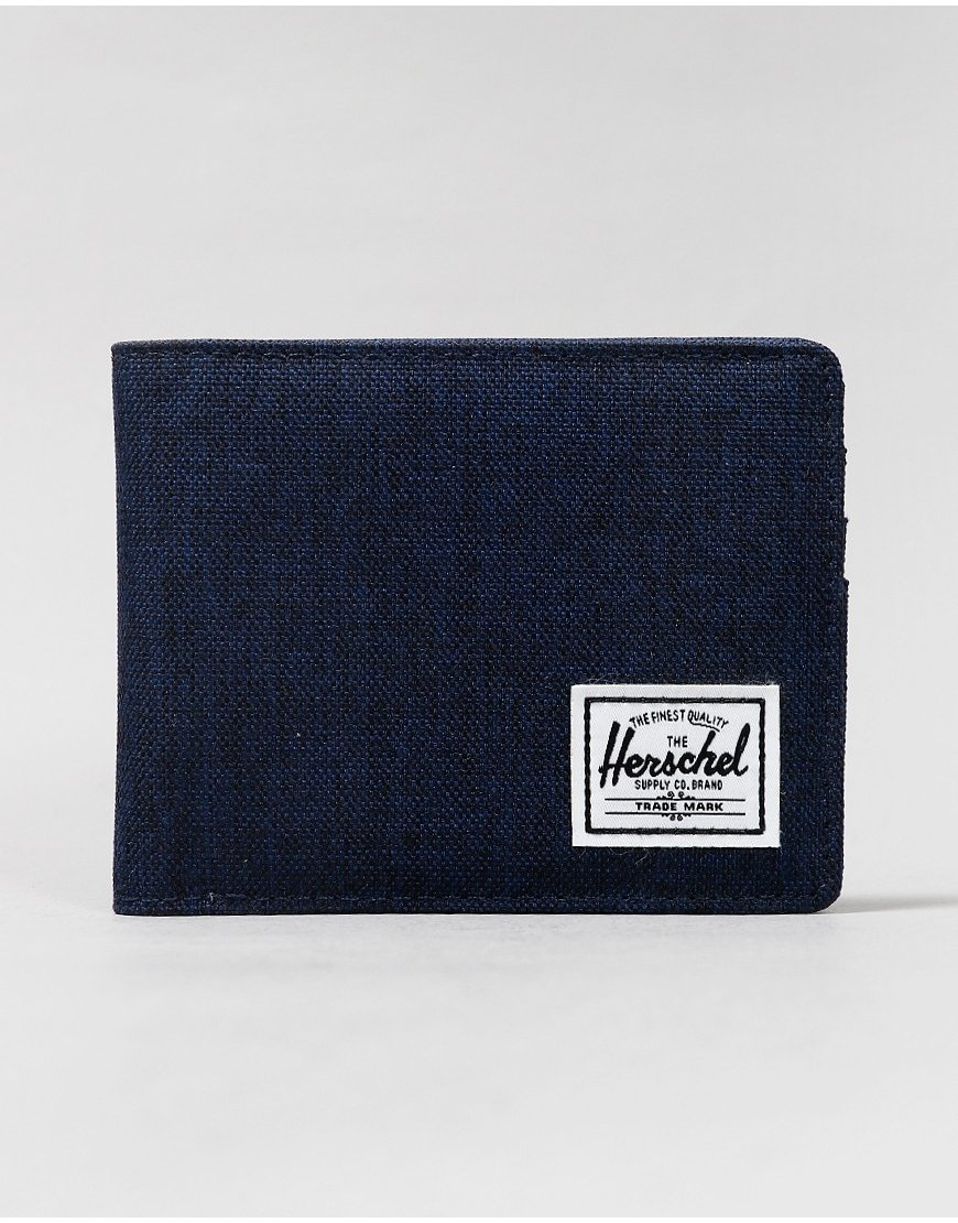 Herschel Roy Bi-Fold Wallet Medium Blue Cross