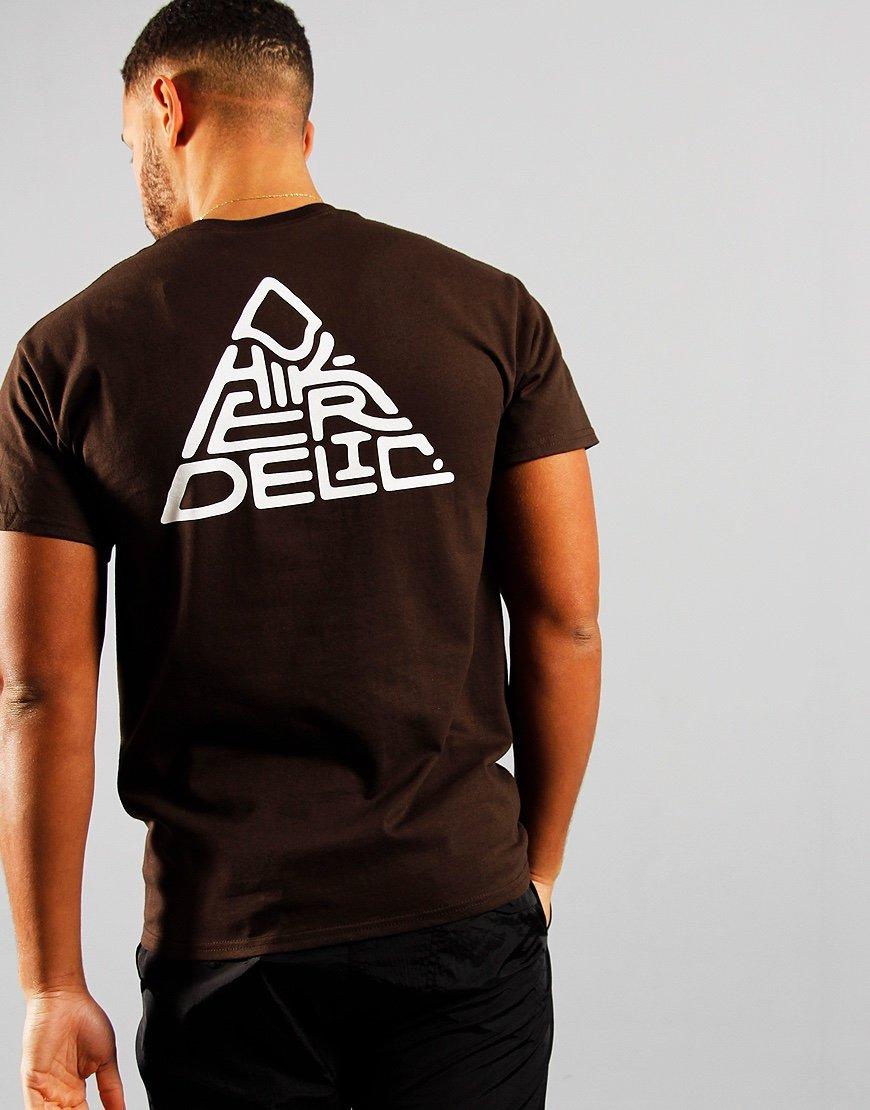 Hikerdelic 60° Mountain Logo T-Shirt Brown