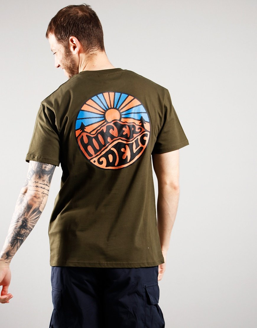 Hikerdelic OG Logo T-Shirt Military Green