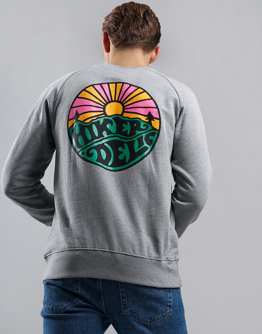 Hikerdelic Logo Sweat Grey Marl