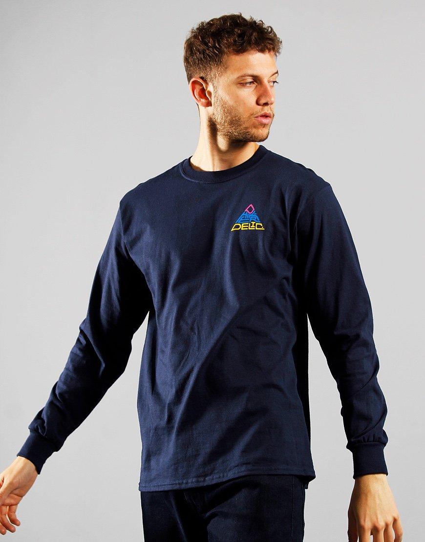 Hikerdelic 60° Mountain Logo Long Sleeve T-Shirt Navy