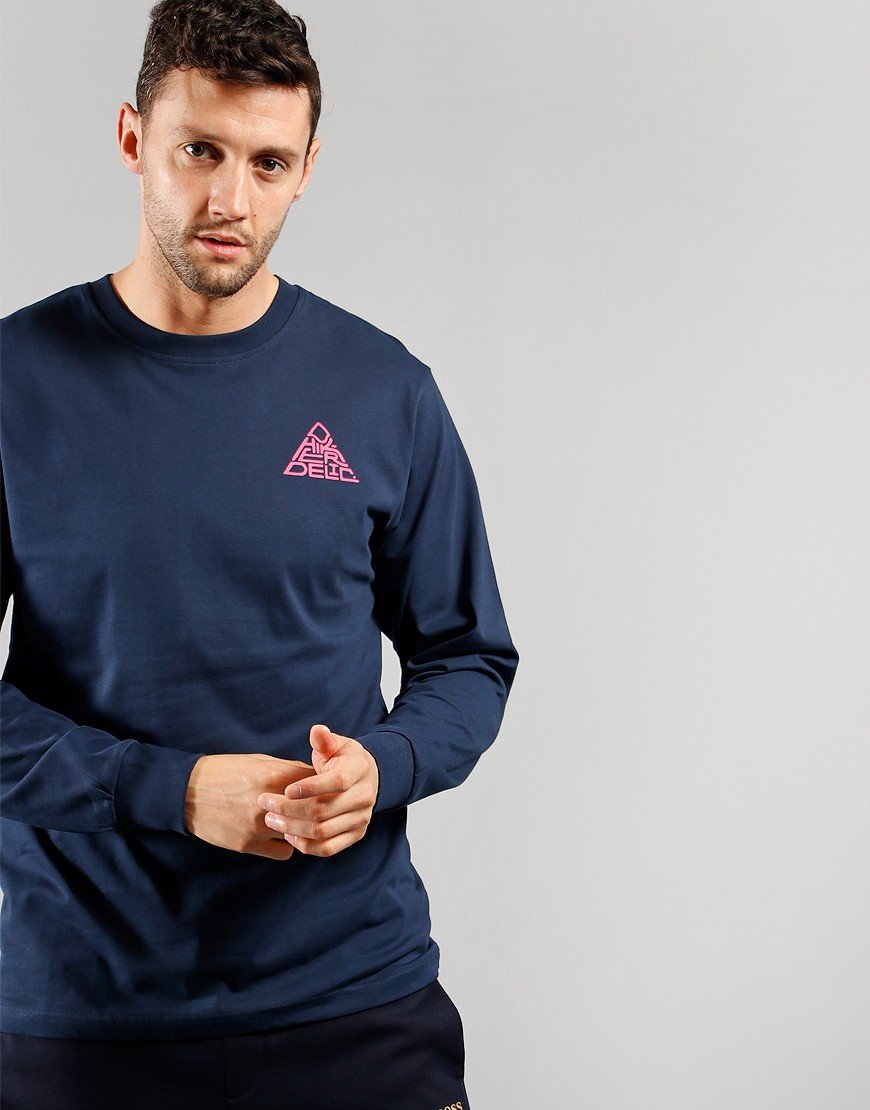 Hikerdelic Long Sleeve Mountain T-Shirt Navy