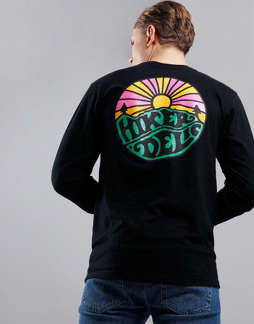 Hikerdelic Long Sleeve OG Logo T-Shirt Black