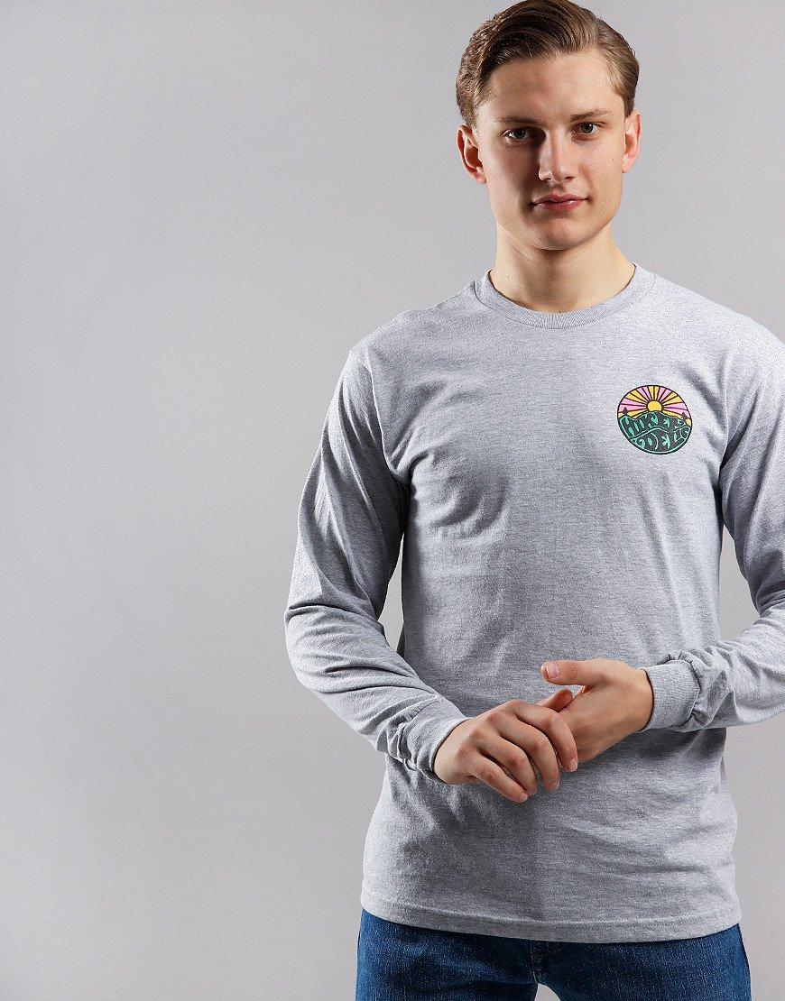 Hikerdelic Long Sleeve OG Logo T-Shirt Grey Marl