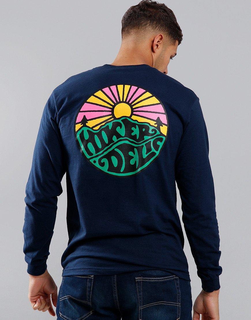 Hikerdelic Long Sleeve OG Logo T-Shirt Navy