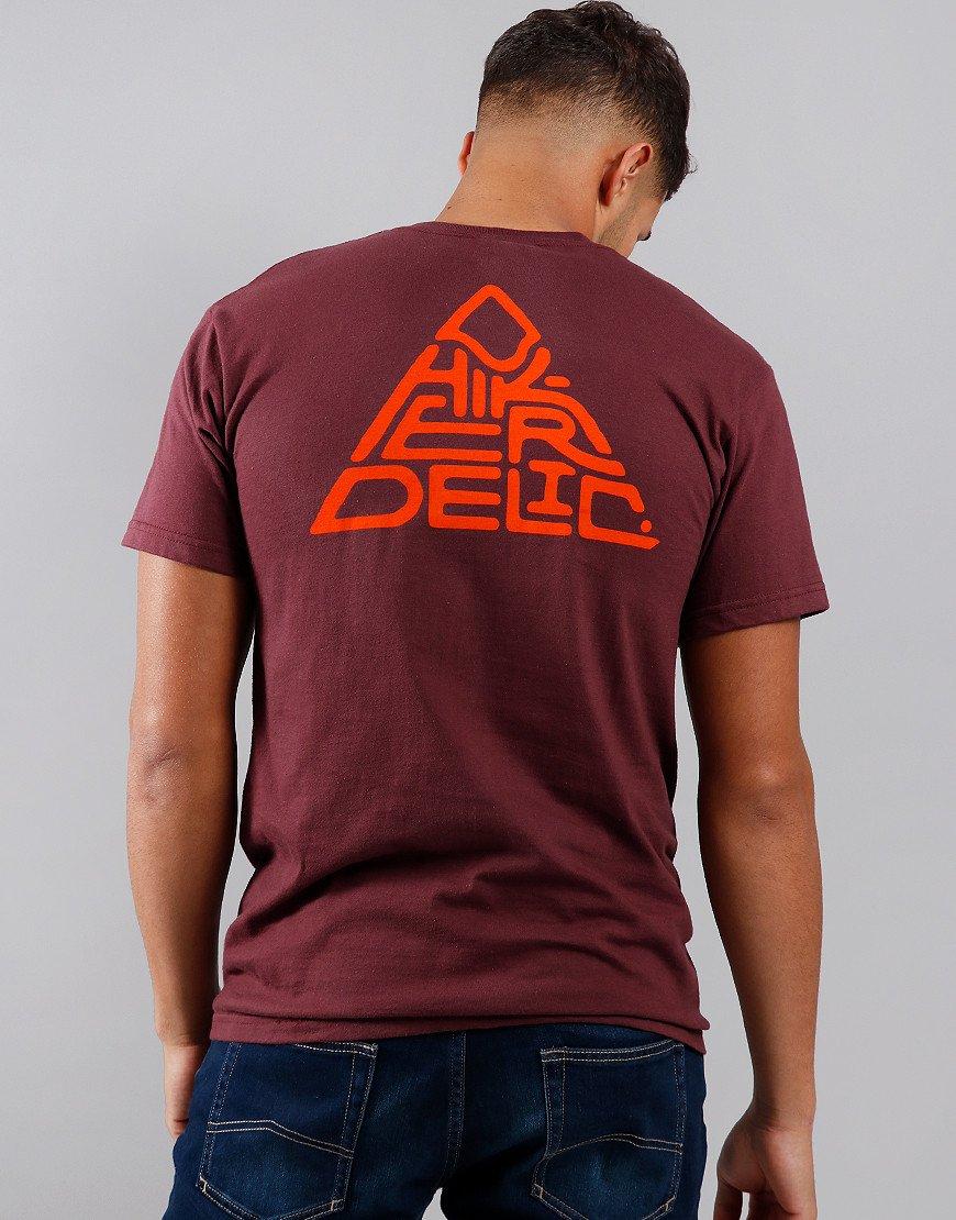 Hikerdelic Mountain T-Shirt Maroon