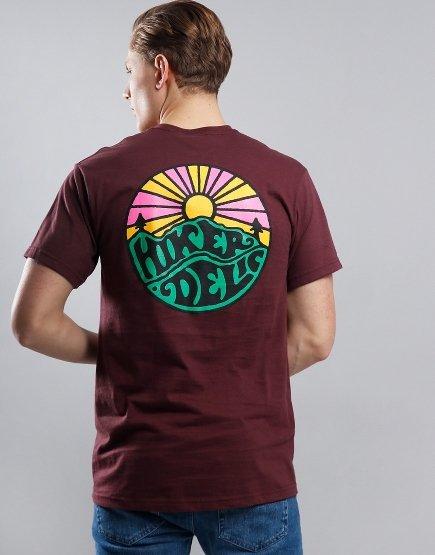 Hikerdelic OG Logo T-Shirt Maroon