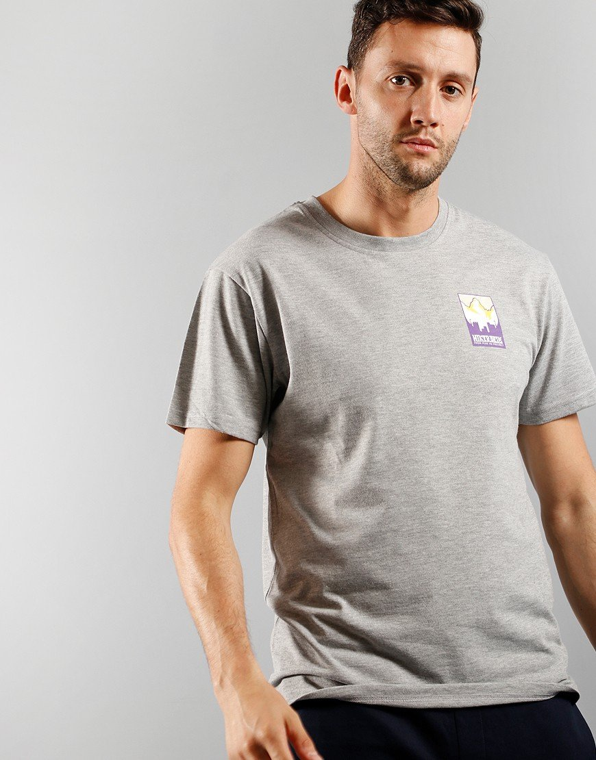 Hikerdelic Patch Print T-Shirt Grey