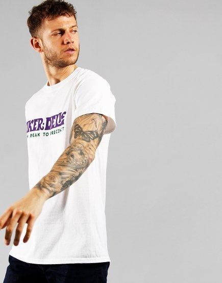 Hikerdelic Text T-Shirt  White