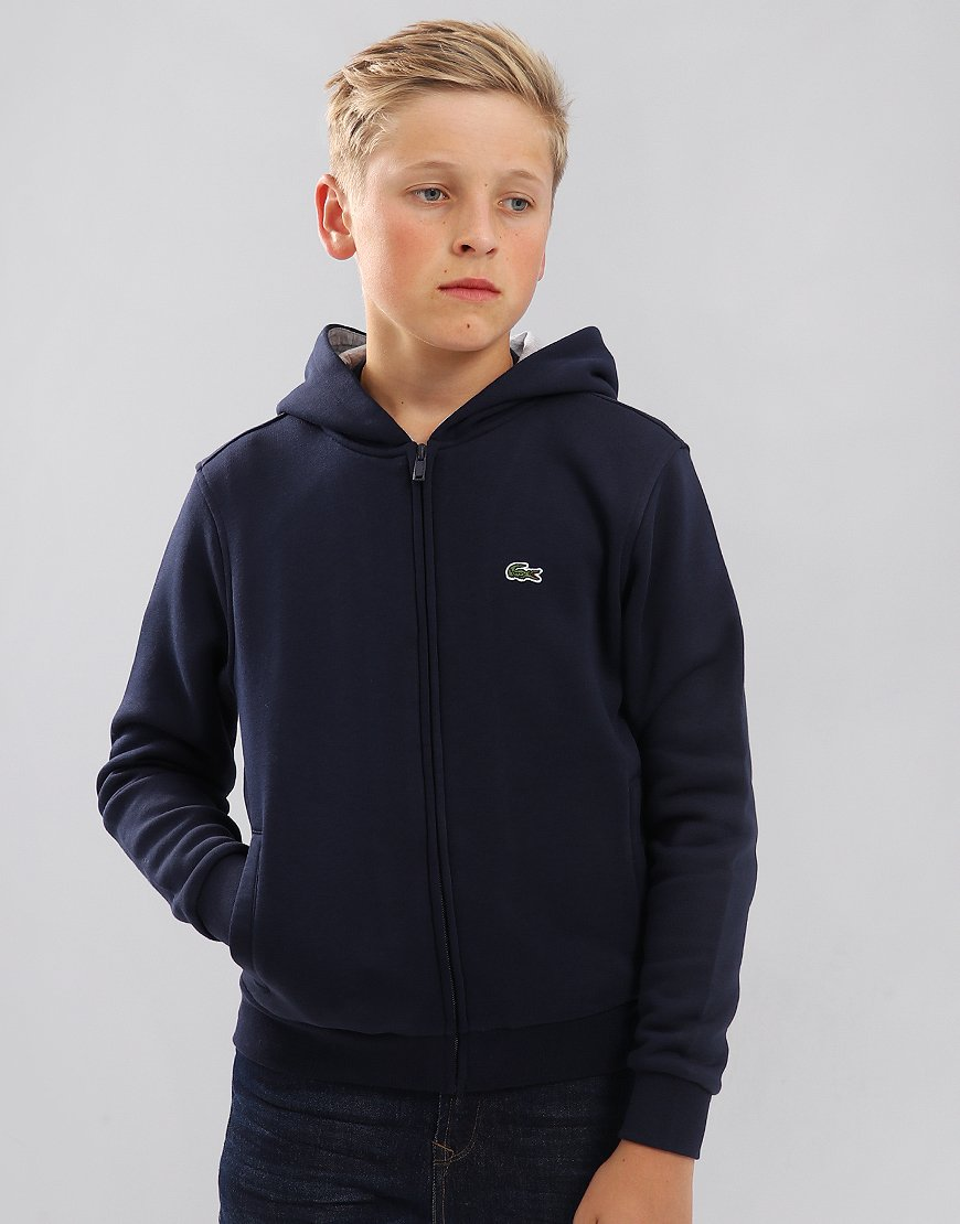 Lacoste Kids Zip Through Hoodie Navy