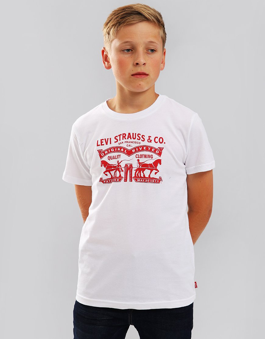 Levi's Kids Horses T-Shirt White