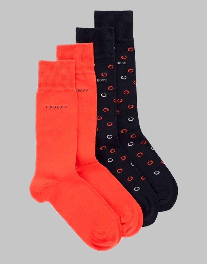 BOSS 2 Pack Dot Socks Dark blue