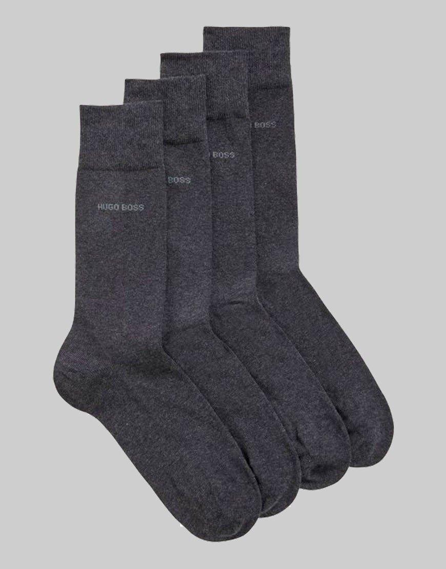 BOSS 2 Pack Socks Charcoal