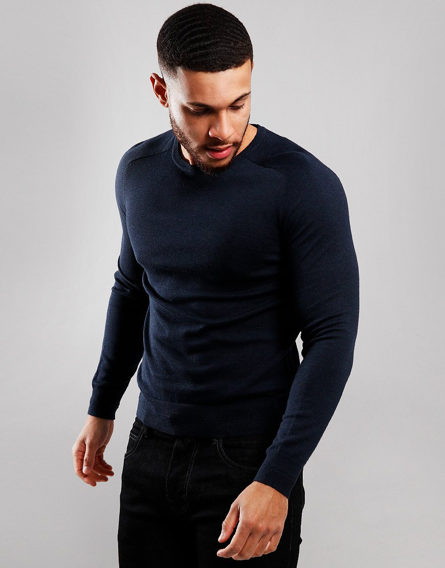 BOSS Kamiox Crew Neck Knit Dark Blue