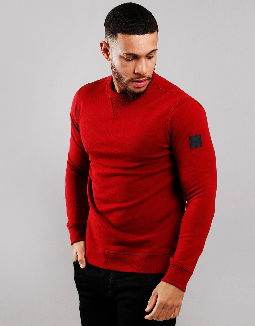 BOSS Walkup Crew Neck Sweat Medium Red