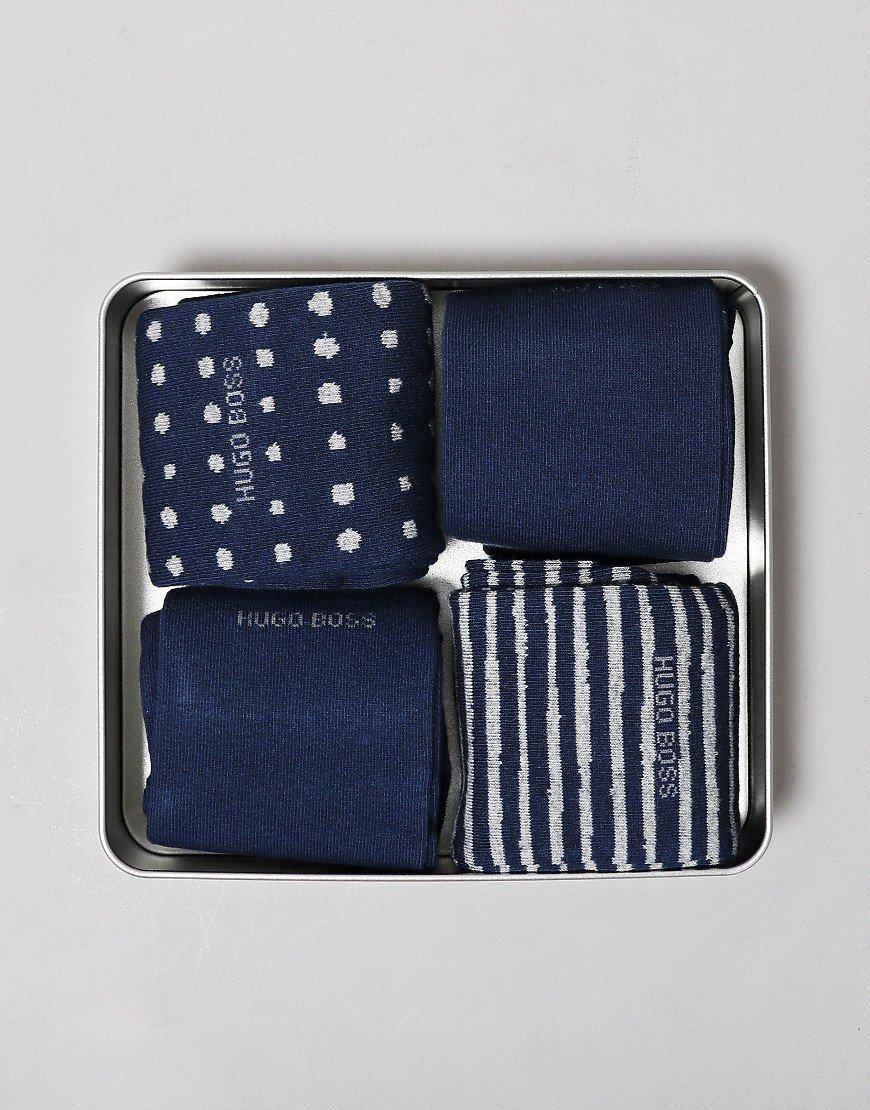 BOSS 4 Pack Socks Gift Set Set Navy