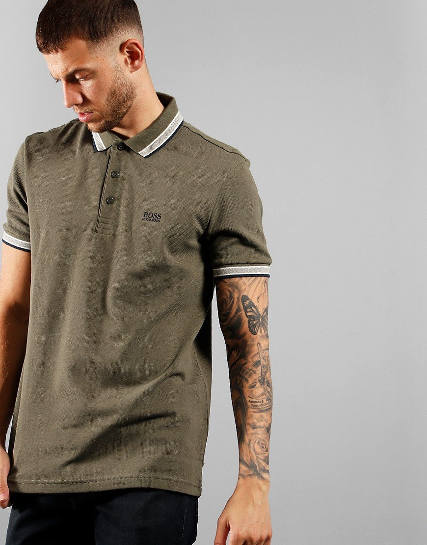 BOSS Athleisure Paddy Polo Shirt Dark Green