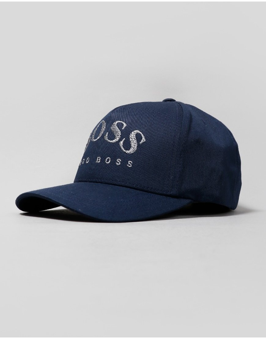 BOSS Curved Logo Cap Navy