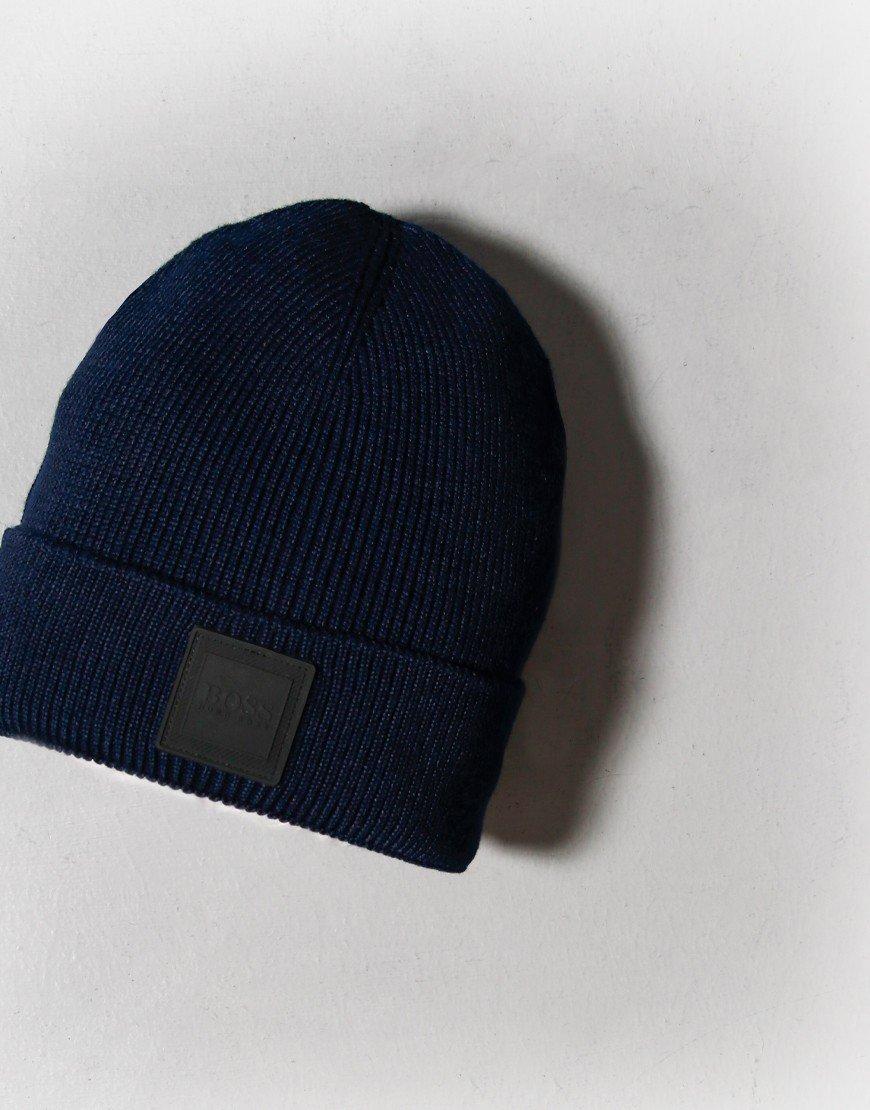 BOSS Foxxy Beanie Hat Dark Blue