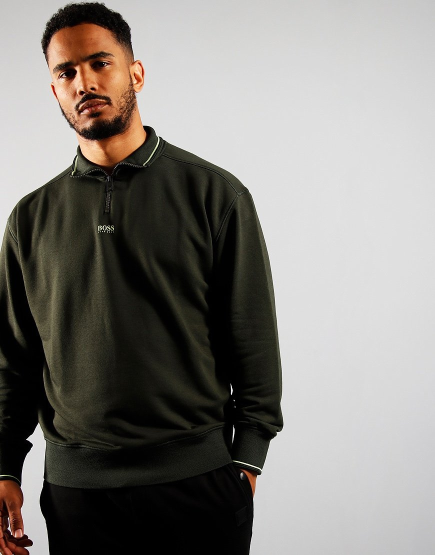 BOSS ZPitch Sweatshirt Open Green