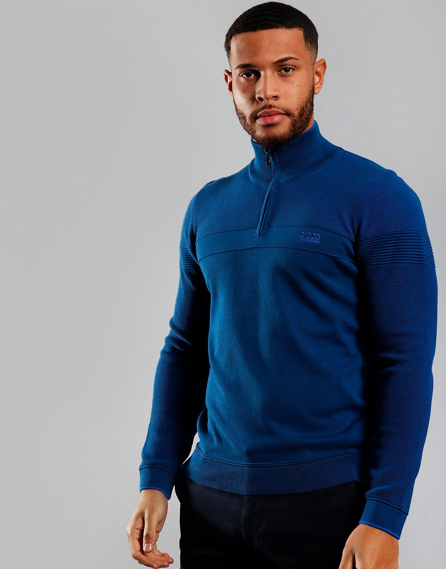 BOSS Zakop Half Zip Sweat Bright Blue