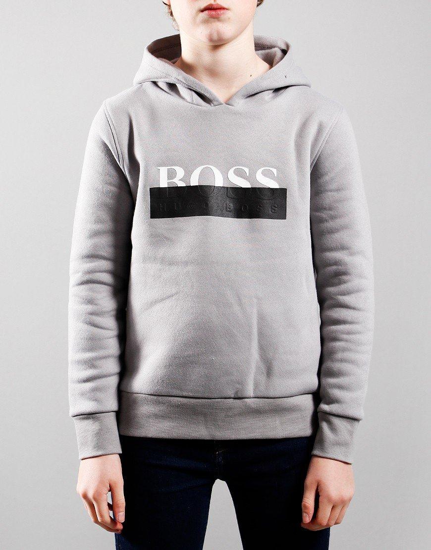 BOSS Kids Box Hoodie Medium Grey
