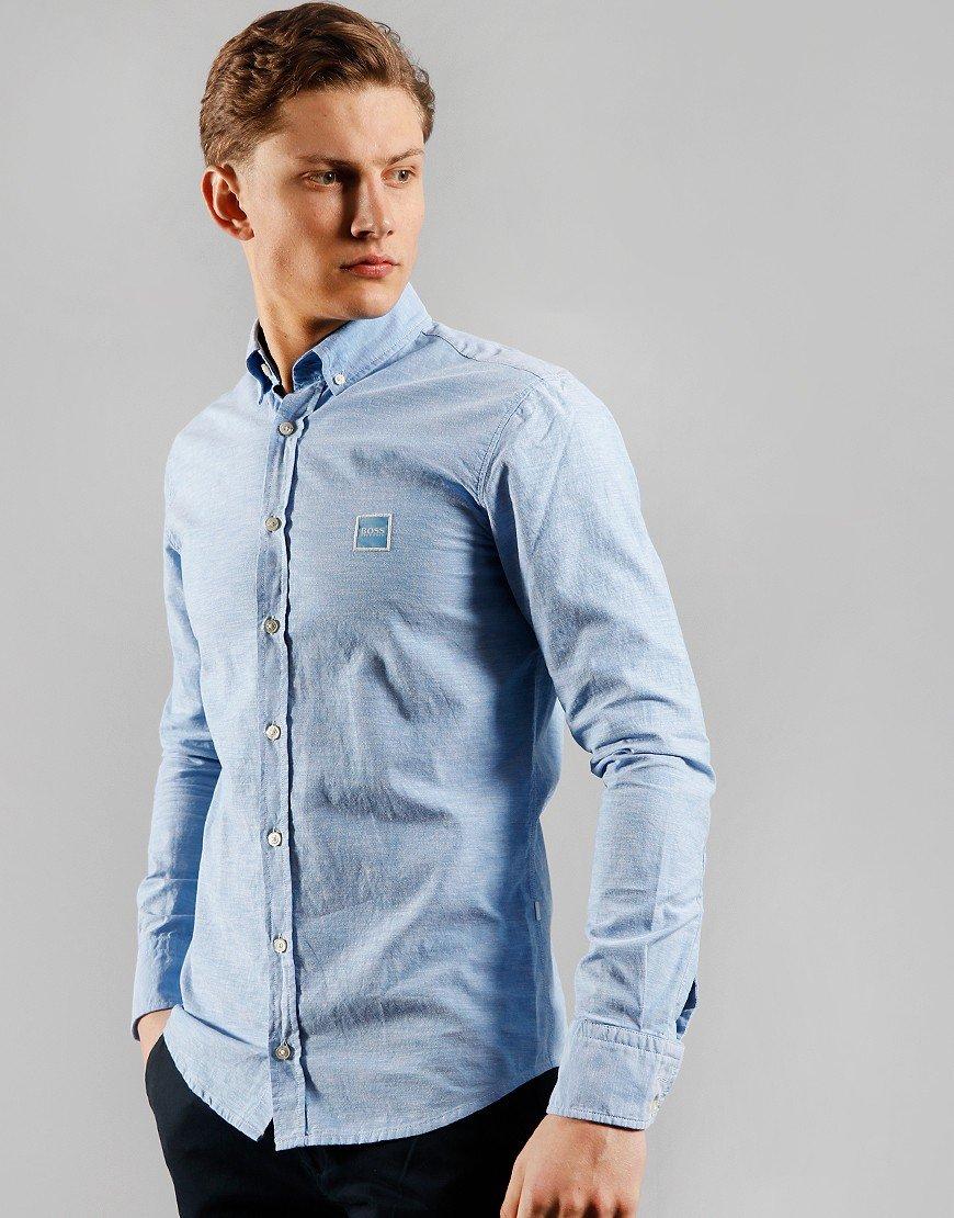 BOSS Mabsoot Shirt Open Blue