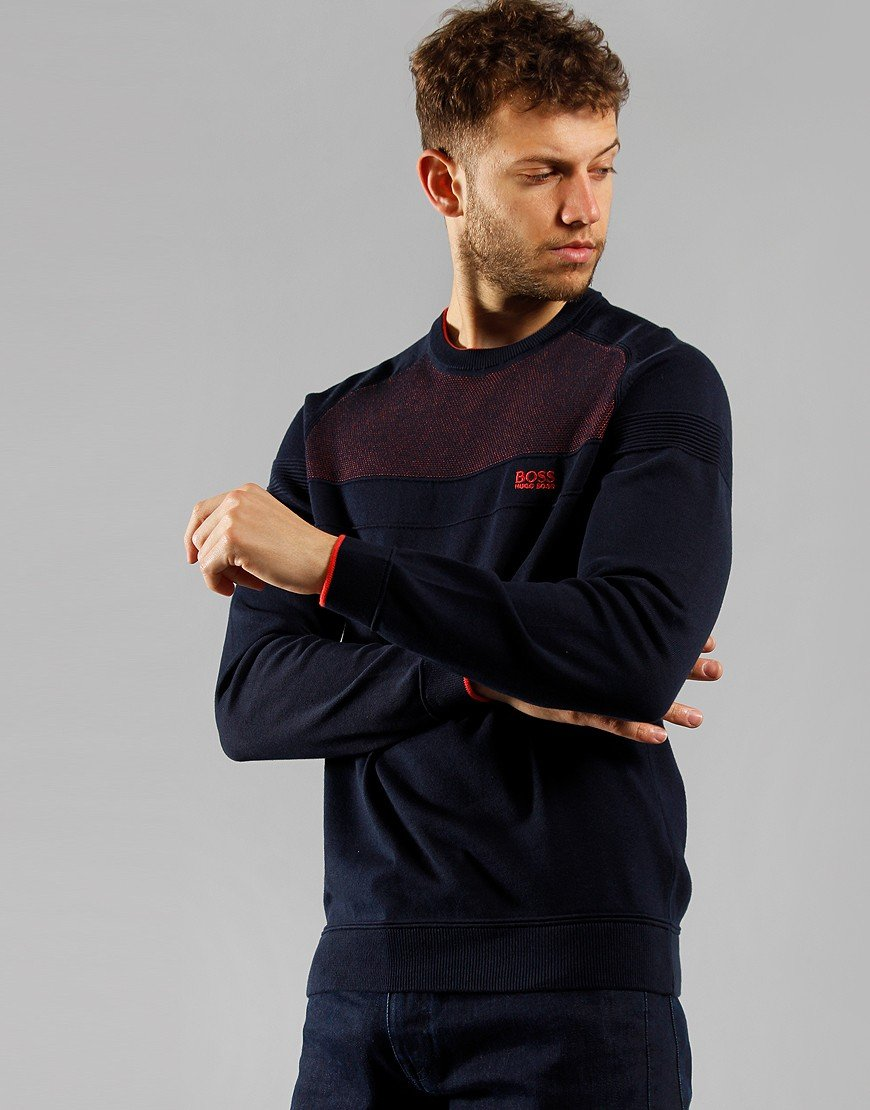 BOSS Ramoy Crew Sweat Navy