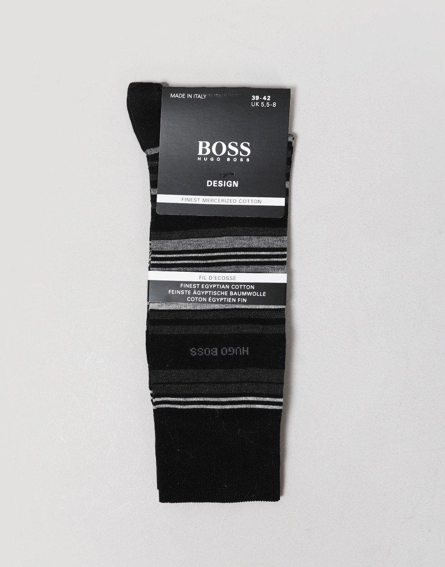 BOSS Multi Stripe Socks Black
