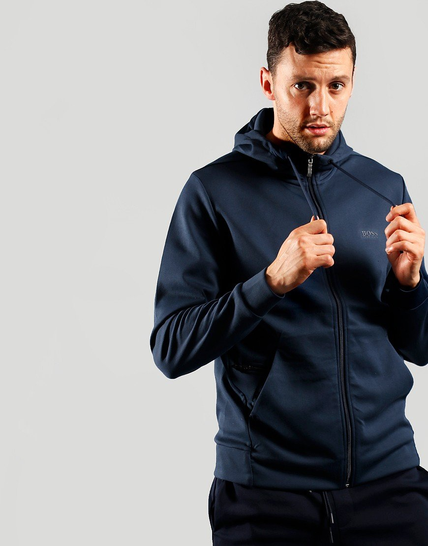 BOSS Athleisure Saggy X Hooded Zip Sweat Navy