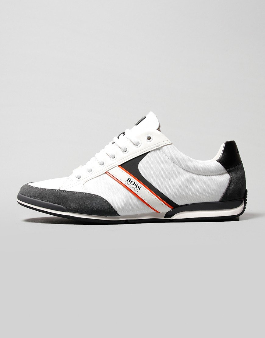 BOSS Saturn Lowp Trainers Open White