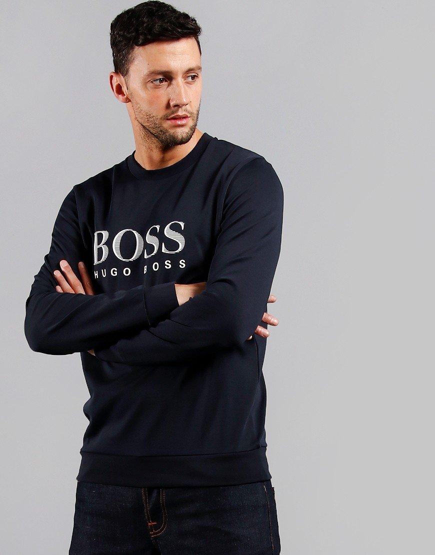 BOSS Logo Crew Sweat Dark Blue