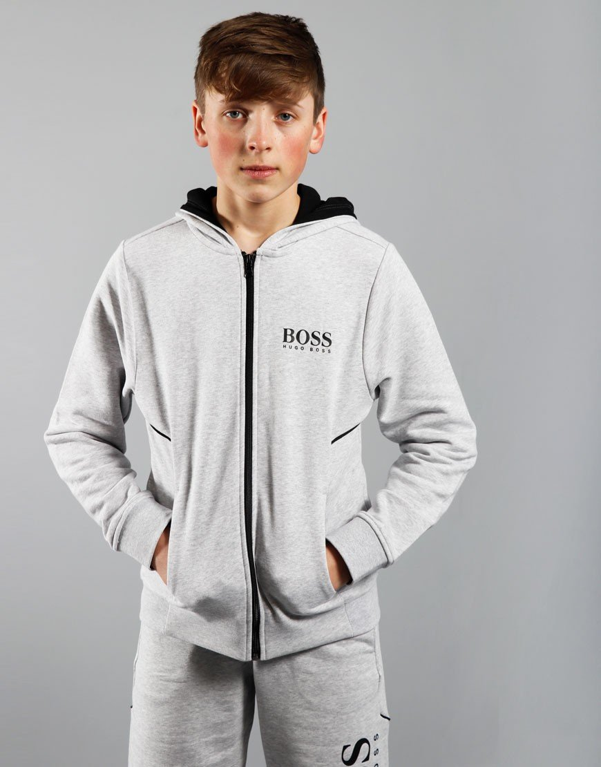 BOSS Kids Cardi Suit Sweat Chine Grey