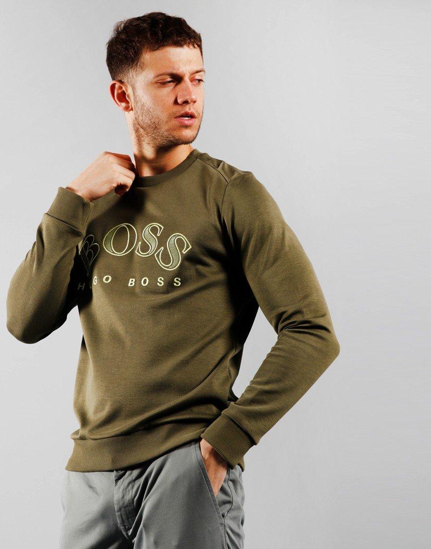 BOSS Salbo Sweatshirt Dark Green