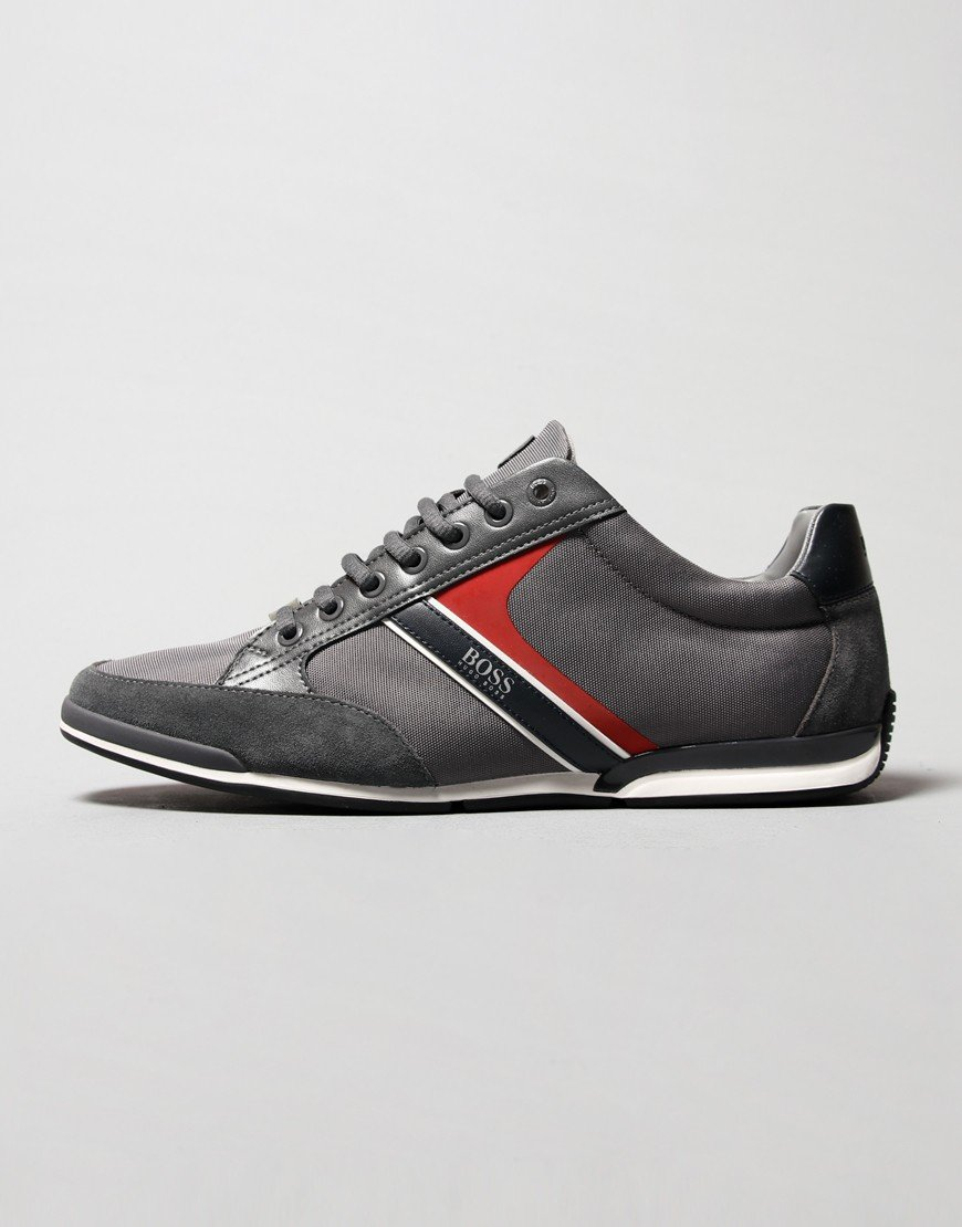 BOSS Saturn Lowp Trainers Dark Grey