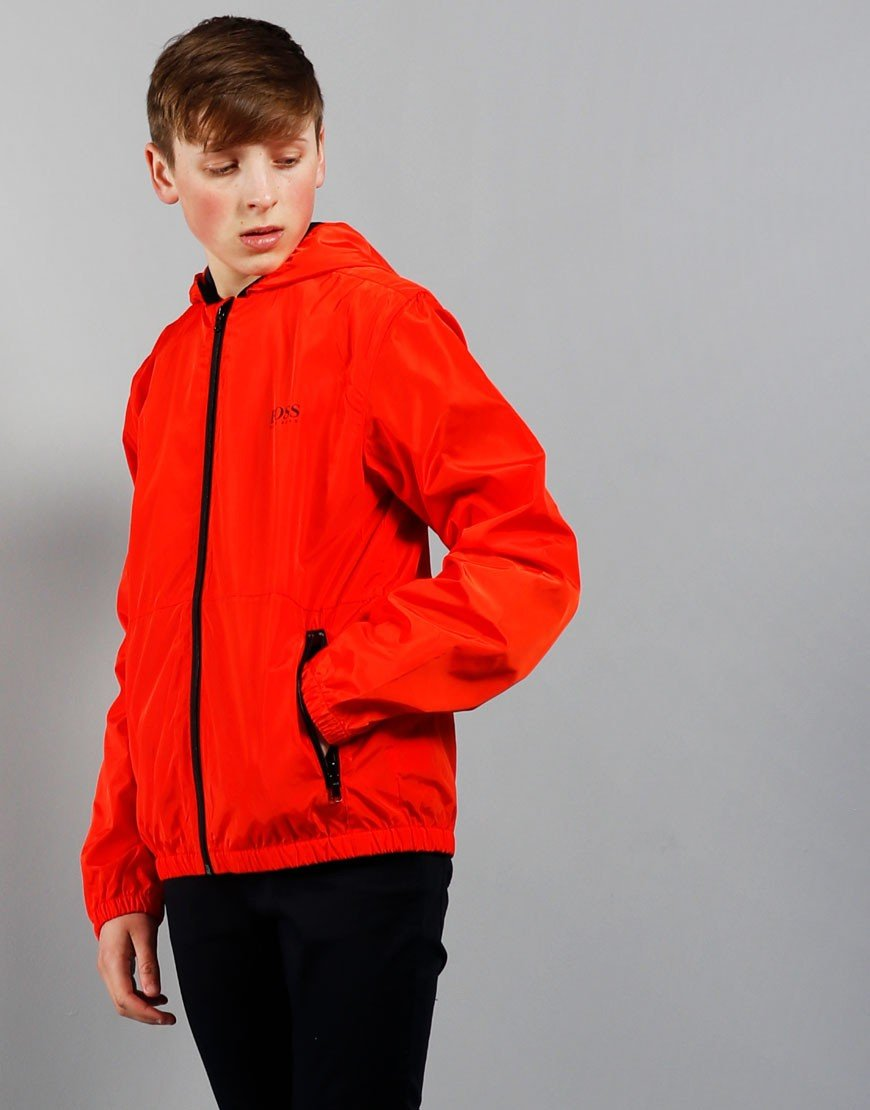 BOSS Kids Windbreaker Jacket Bright Red