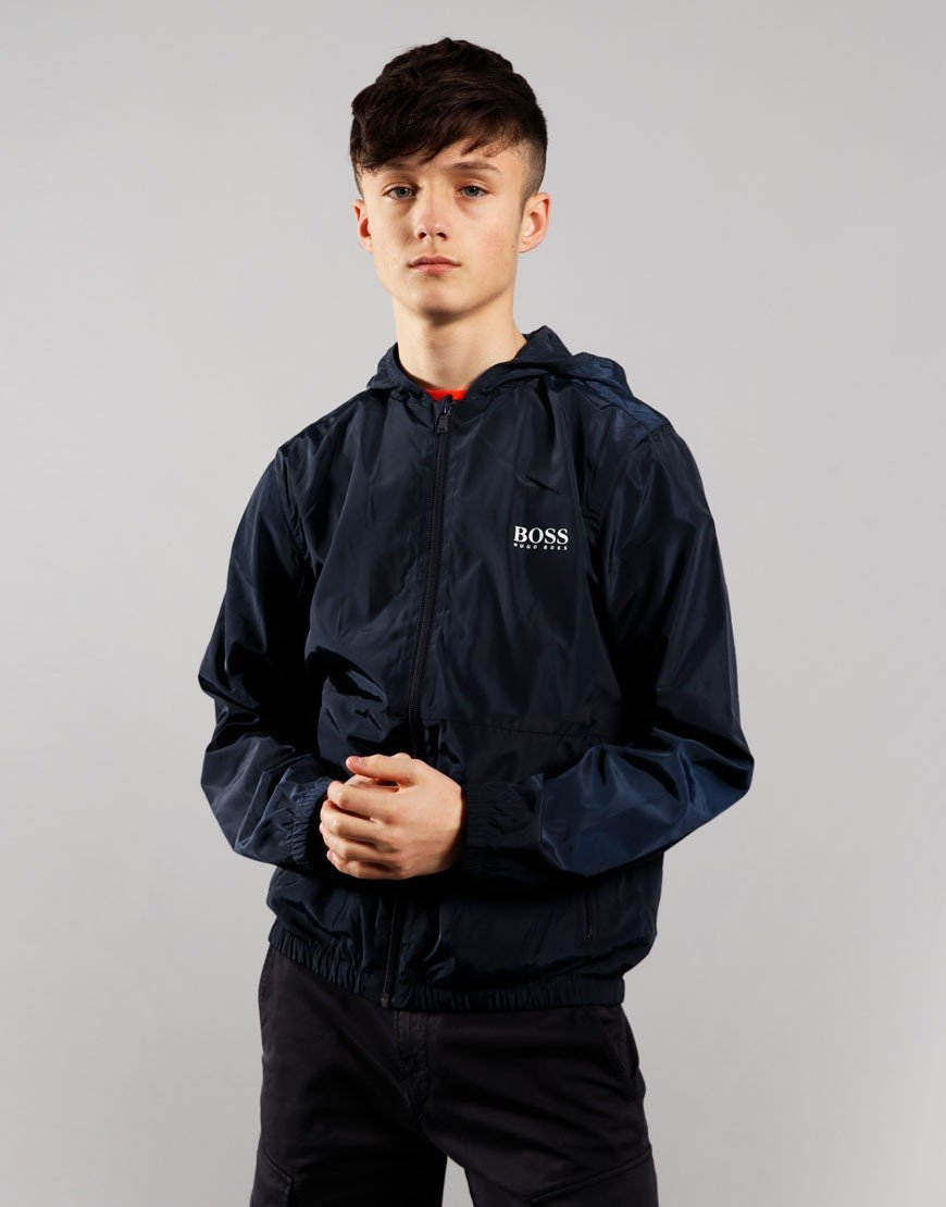 BOSS Kids Windbreaker Jacket Navy