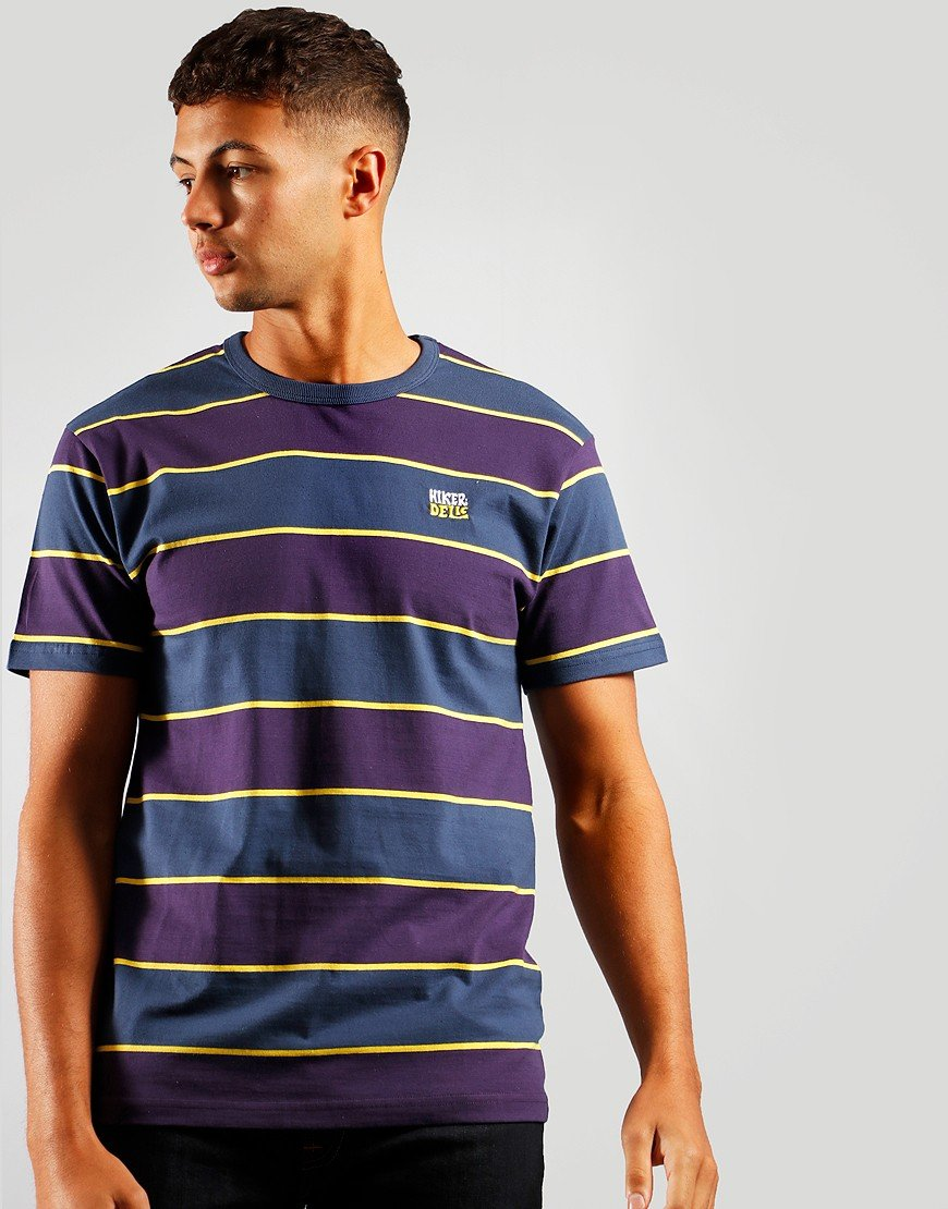 Hikerdelic Wide Stripe T-Shirt Navy/Purple