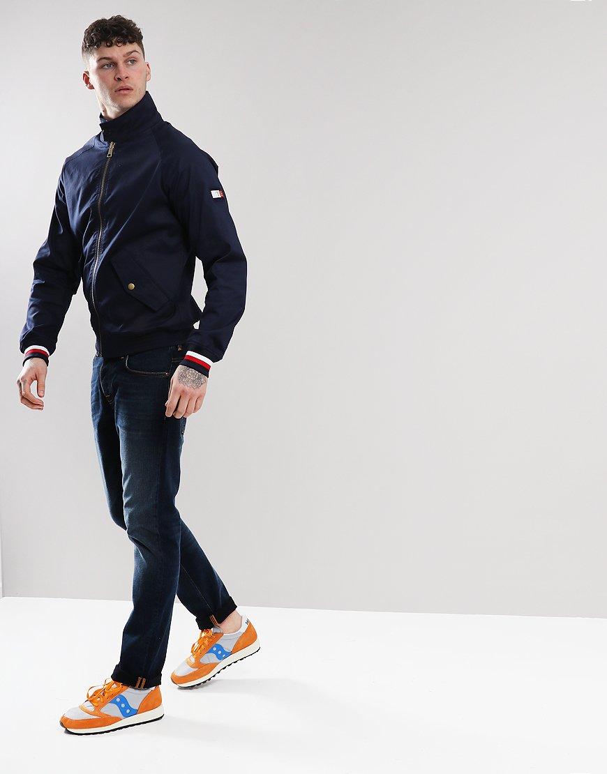 42263681 Tommy Hilfiger Icon Harrington Jacket Maritime Blue - Terraces Menswear