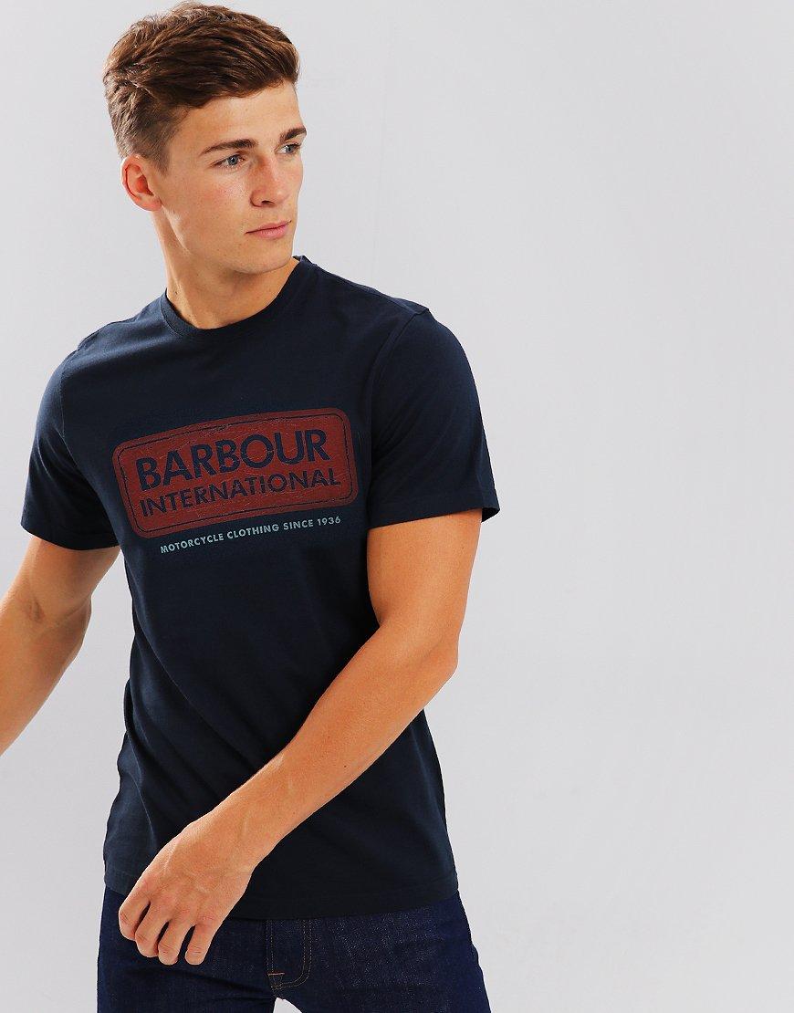 Barbour International Logo T-shirt Navy