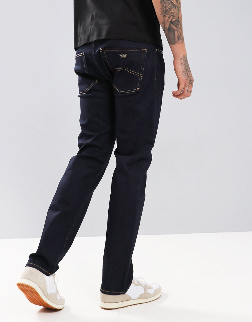 Emporio Armani J45 Tapered Jeans Denim Blue