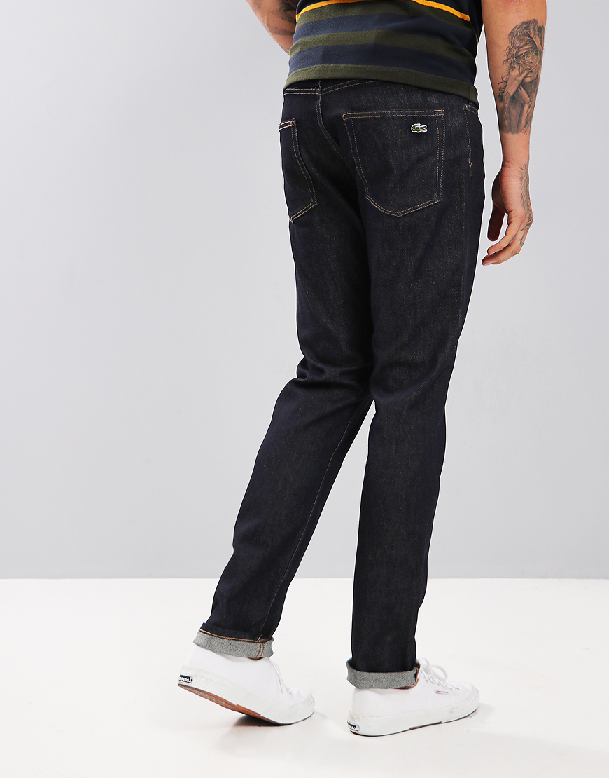 Lacoste Slim Fit Five-Pocket Jeans Rinse