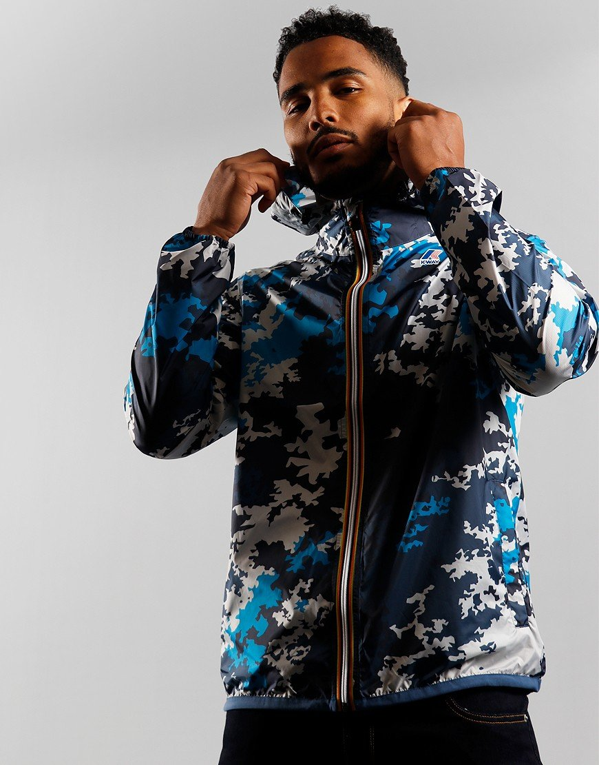 K-Way Claude Graphic Jacket Ocean Camo