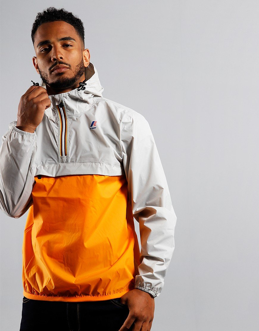 K-Way Leon Bicolor Jacket Orange/Grey