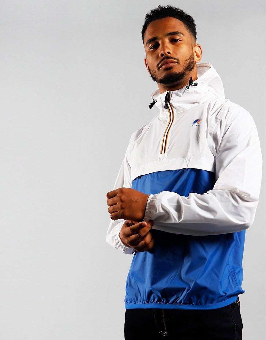 K-Way Leon Bicolor Jacket White/Royal