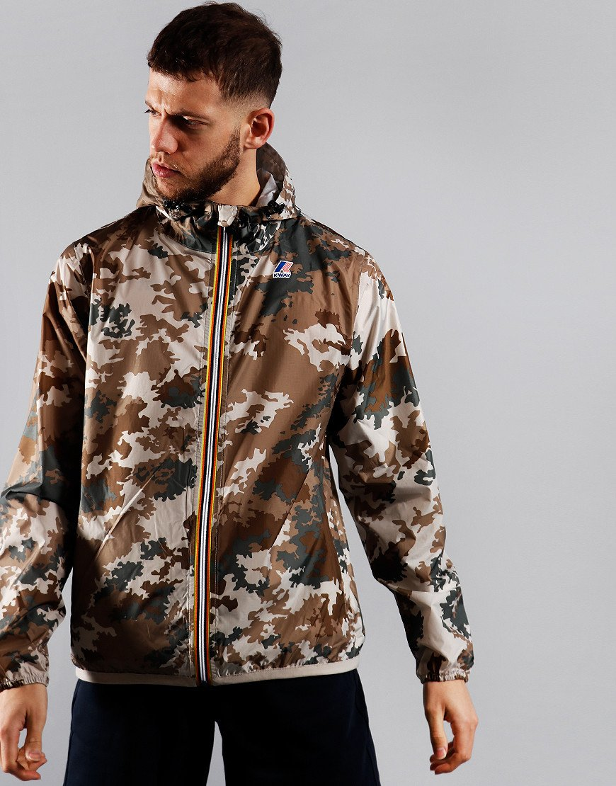 K-Way Claude Graphic Jacket Light Sand Camo