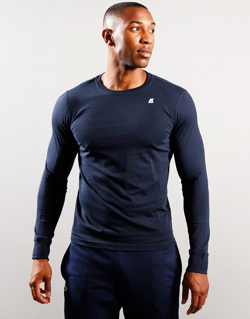 K-Way Long Sleeve Elmer T-Shirt Blue Depths
