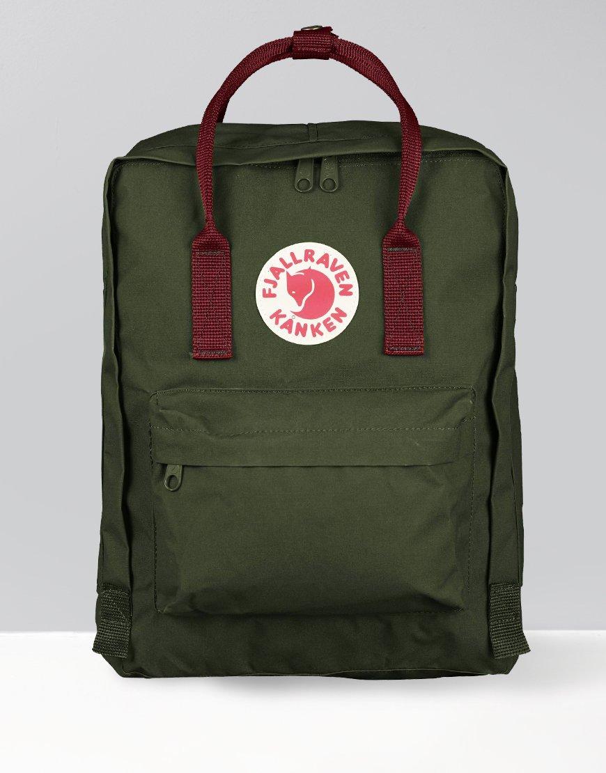 Fjällräven Kånken Backpack Forest Green/Ox Red